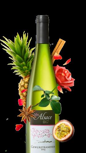 bouteille de gewurztraminer alsacien