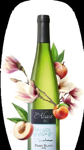 bouteille de pinot blanc alsacien