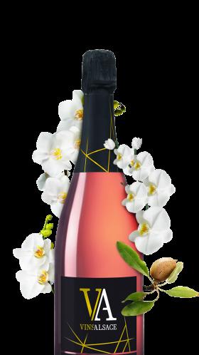 bouteille cremant rose d'alsace