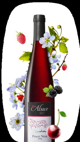 bouteille de pinot noir rouge alsacien
