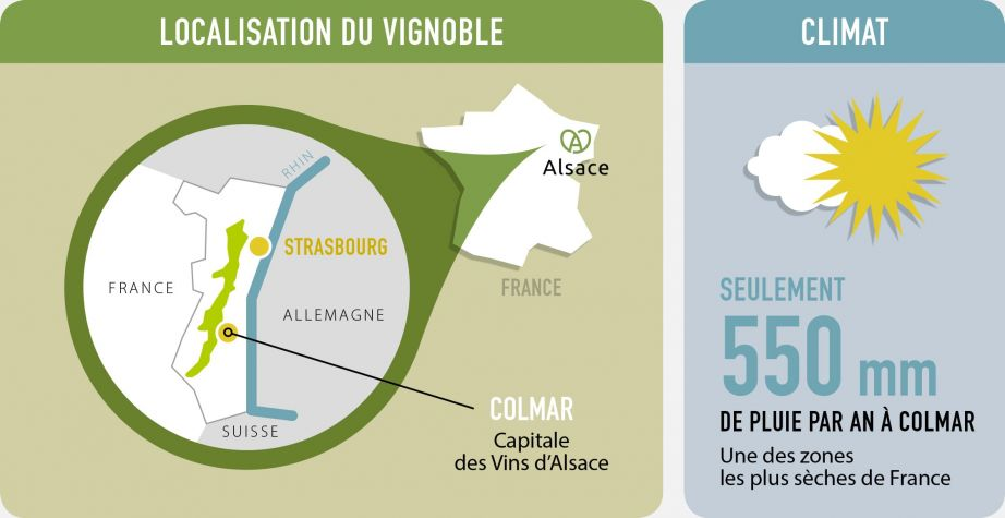 Localisation du vignoble et climat
