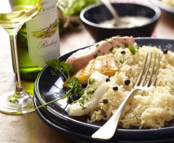 Fish sauerkraut