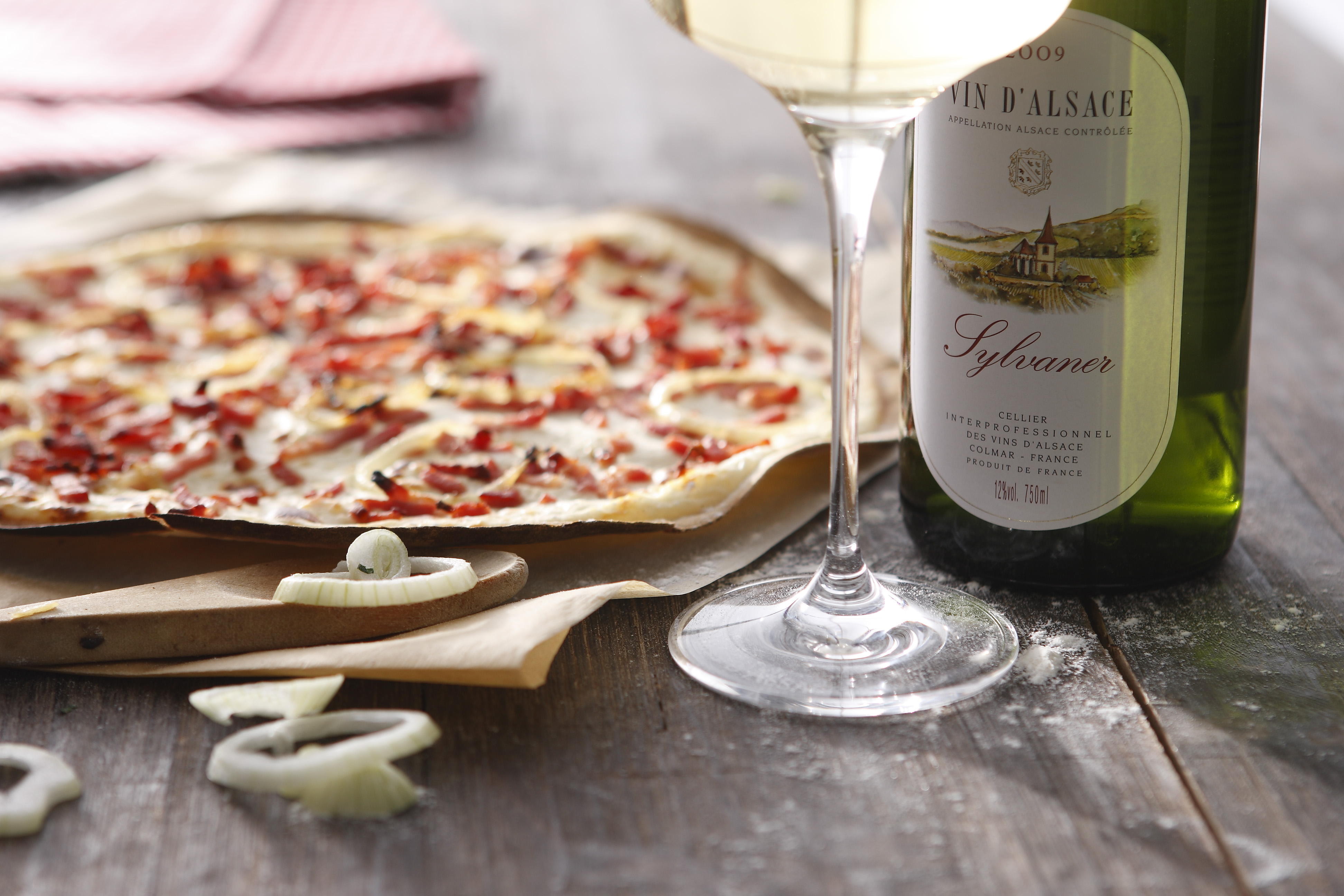 Recipe For Traditional Tarte Flambée Or Flammekueche Vins Dalsace