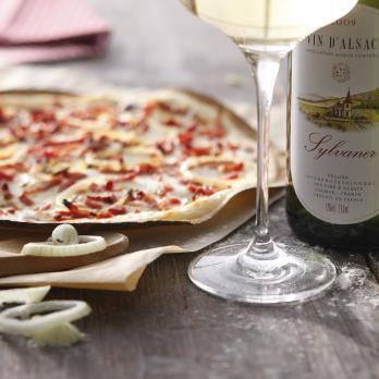 Tarte flambée (Alsace thin pizza)