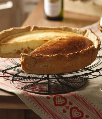 Tart with fromage blanc