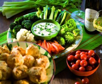 Dips de légumes & sauce au fromage blanc