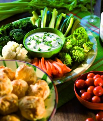Vegetables & fromage blanc dip