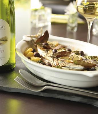 Sea bream with Riesling