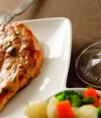 Chicken escalope with lemon and Riesling d'Alsace