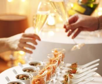 Seafood aperitif nibbles
