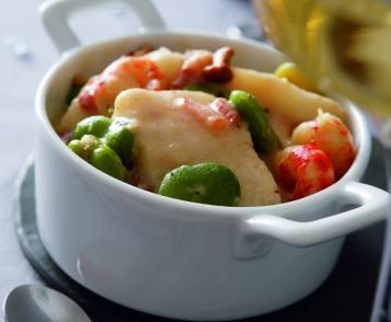 Cassolette de poissons, sauce au Riesling