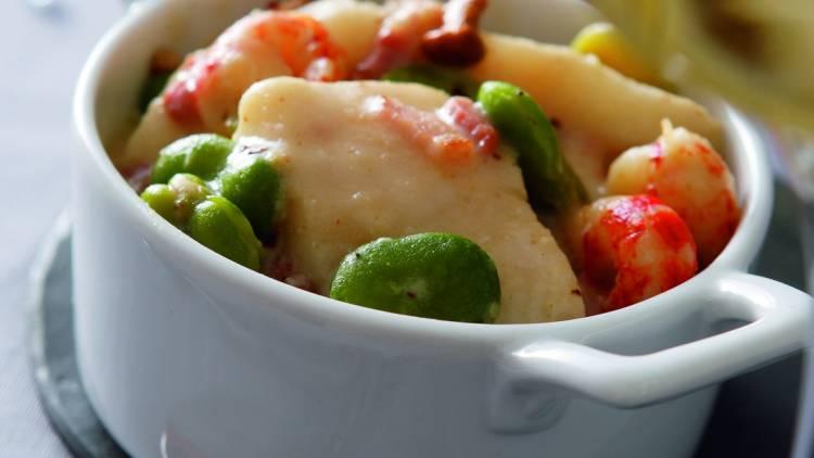 cassolette de poissons et sauce au riesling