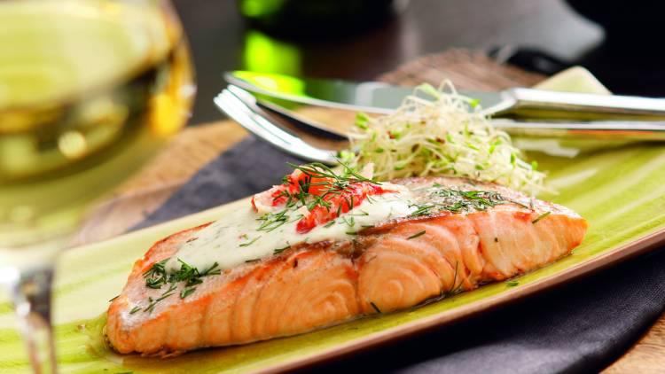 duo de saumon et langoustine au citron et à l'aneth