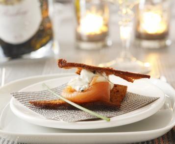 Millefeuille au saumon
