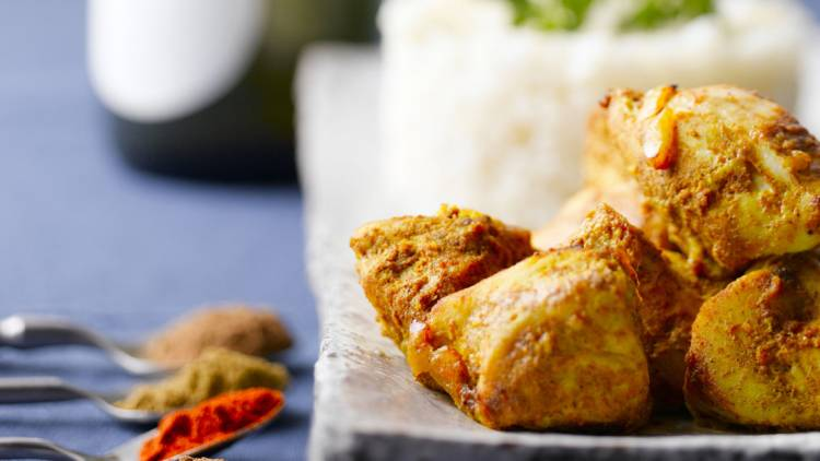 poulet mariné à l'indienne