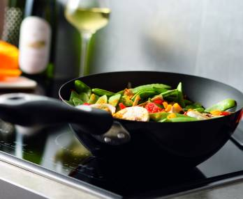 Wok stir-fried vegetables