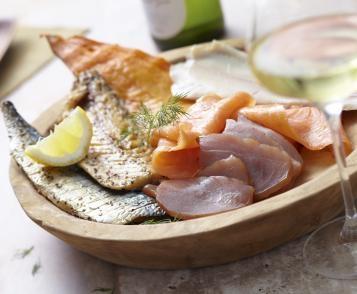 Assiette nordique - 4 poissons fumés
