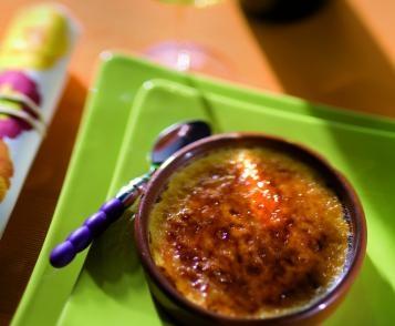 Crème brûlée au miel et crème de marrons