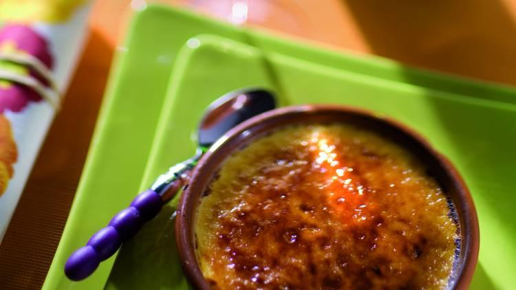 crème brûlée au miel et à la crème de marrons