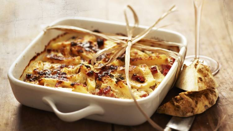 gratin de céleri au roquefort
