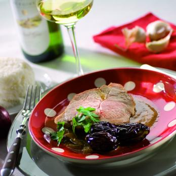 Pork roast with prunes
