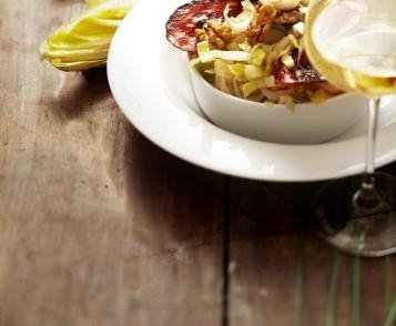 Endive salad with crispy Chorizo