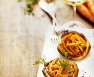 Tartelettes tatin de carottes à l'aneth par Philippe Kientzler